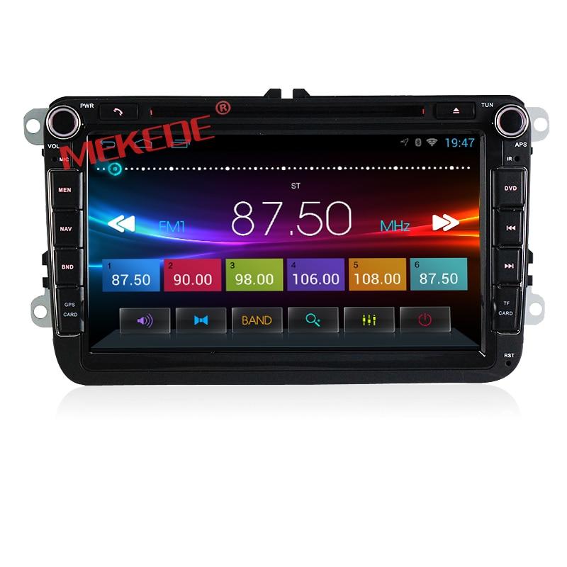 imágenes para Android 4.4 8 Pulgadas de Coches Reproductor de DVD Para VW/Volkswagen/POLO/PASSAT/Golf/TOURAN/SHARAN Quad Core Wifi USB GPS de Navegación de Radio