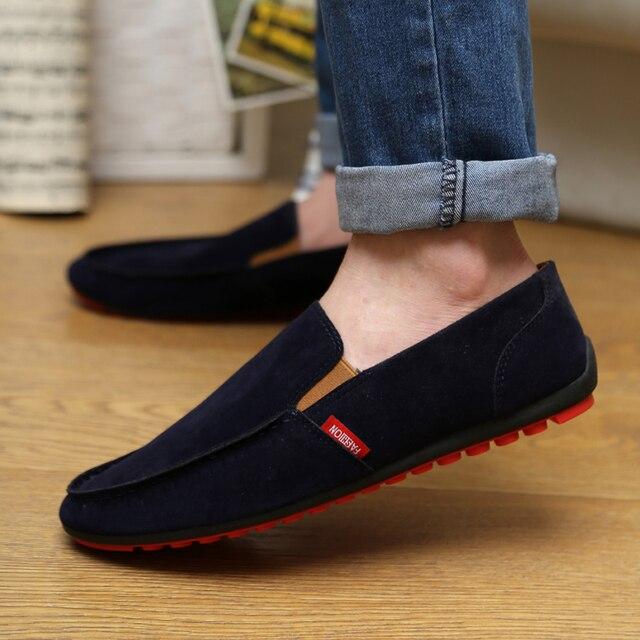 Мужская Обувь Повседневная 2016 Мода Мужчины Кожаные Ботинки Мужчины Мокасины Мокасины Поскользнуться На Квартиры Мужской Обуви