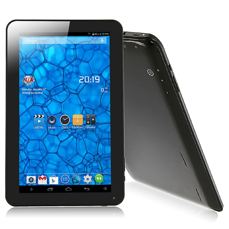 Free shipping Qual Core 10/10.1 inch Allwinner A33 Cortex A8 1024*600 Quad Core Android 4.4 1GB 8GB Tablet PC Bluetooth Black