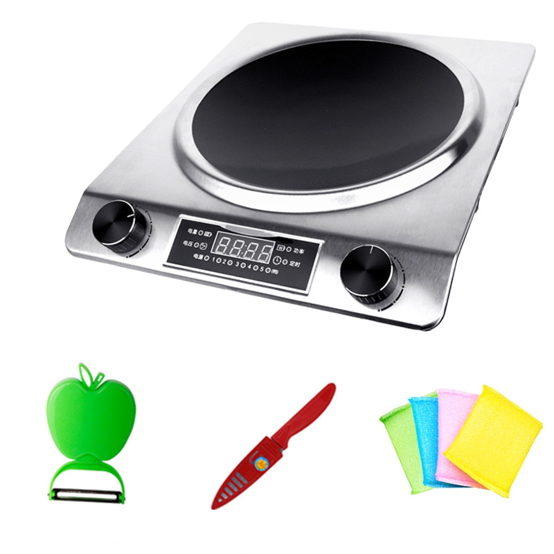 Concave induction cooker high-power special commercial household fried concave stove 220v 50hz hrz288 home concave induction cooker 3000w high power blasted touch screen embedded battery stove 26 5cm concave