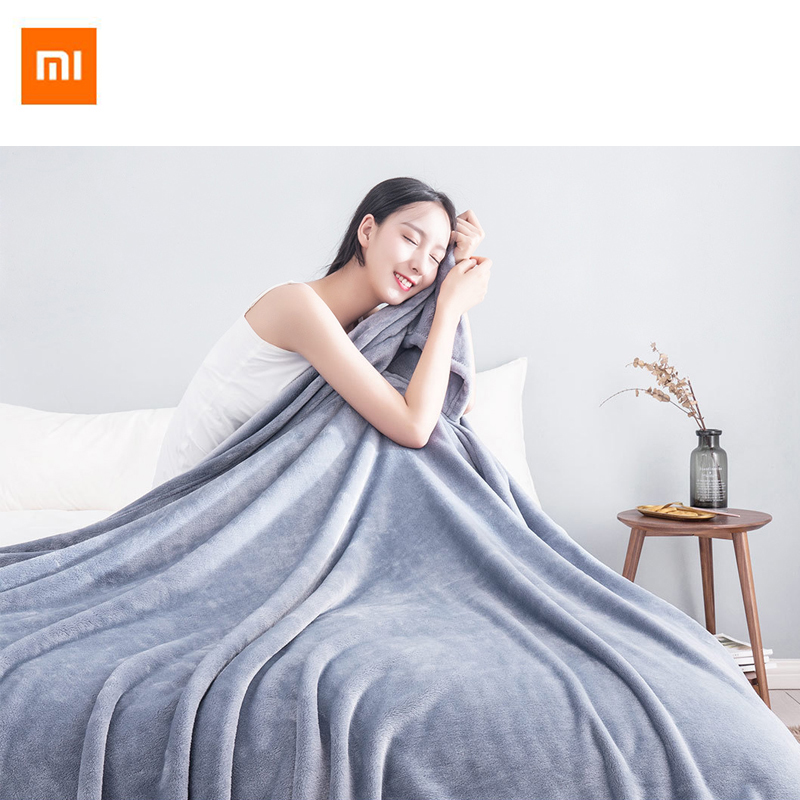 Original Xiaomi Warm Antibacterial Blanket Flannel Anti static Multifunctional Soft Comfortable 180cm 200cm For Home Office