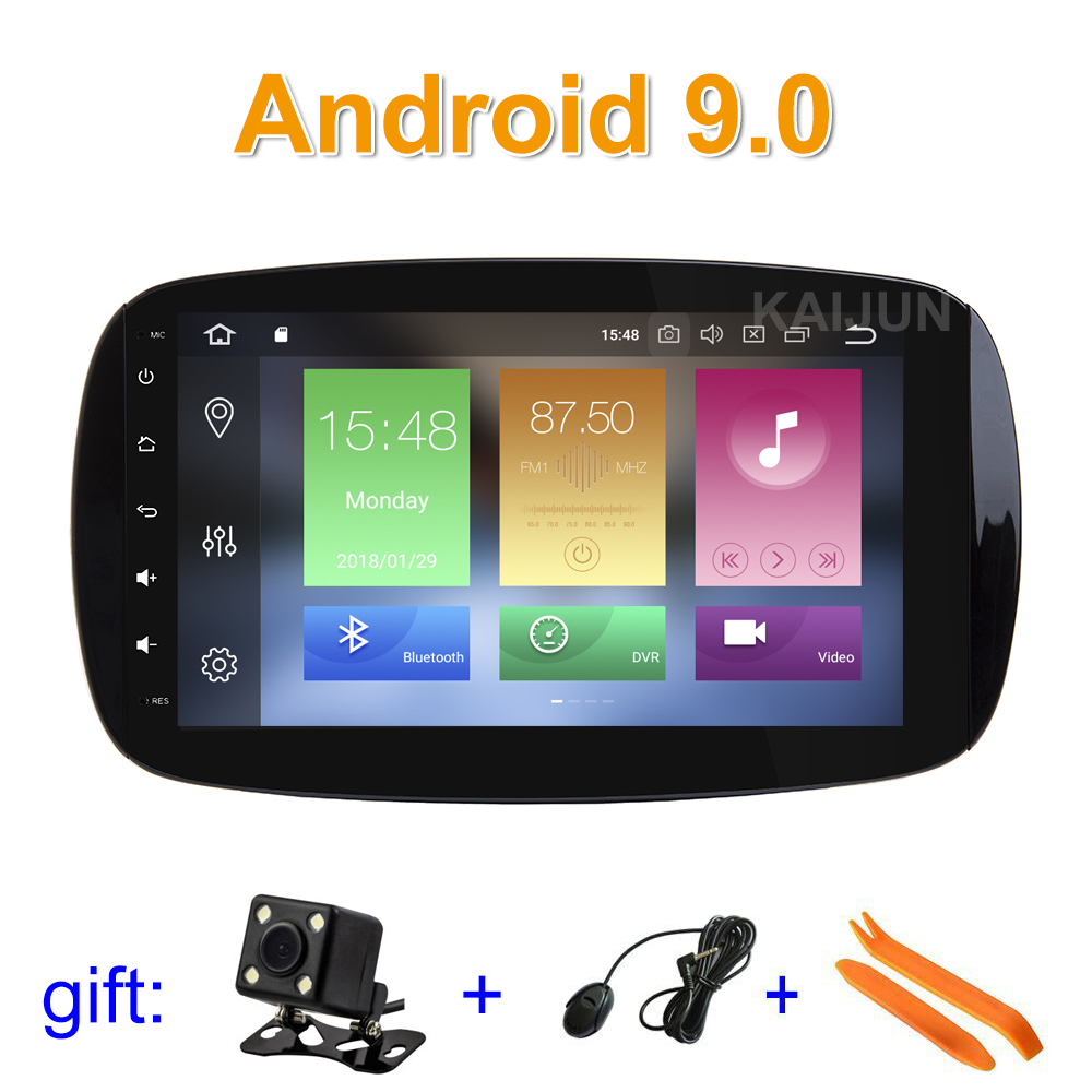 9 64G ROM Android 9 Car DVD Multimedia for Mercedes Benz Smart Fortwo 2016 2017 2018