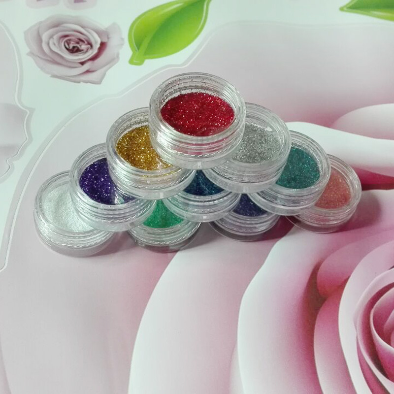XMW009 Colors Nail Art acrylic Glitter Powder Dust For UV GEL Acrylic Powder Decoration nail gel nail tools