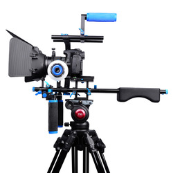 D204 DSLR Rig Shoulder Video Camera Stabilizer Support Cage/Matte Box/Follow Focus For Canon Nikon Sony Camera Camcorder
