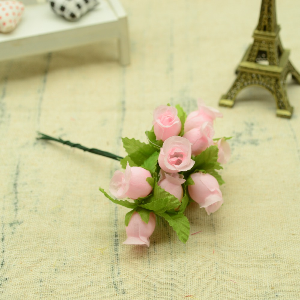 12pcs Silk Roses Artificial Flowers Bouquet for Home And Wedding Decoration Accessories 13