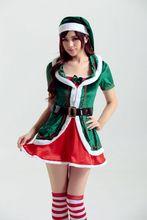 Mujeres De la navidad de Halloween Pettiskirt Verde elf cosplay DS trajes para mujeres erótico disfraces adultos disfraz