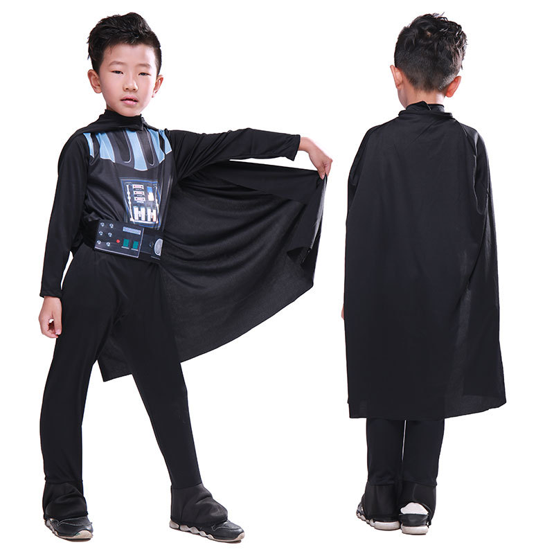 2018 Movie Star Wars Costumes Darth Vader Cosplay Halloween boy Costumes Children's jumpsuit to play clothes Free mask
