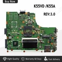 K55VD материнская плата REV3.0 для ASUS K55A K55VD Материнская плата ноутбука K55VD материнская плата K55A материнская плата K55VD для тестирования системной ОК