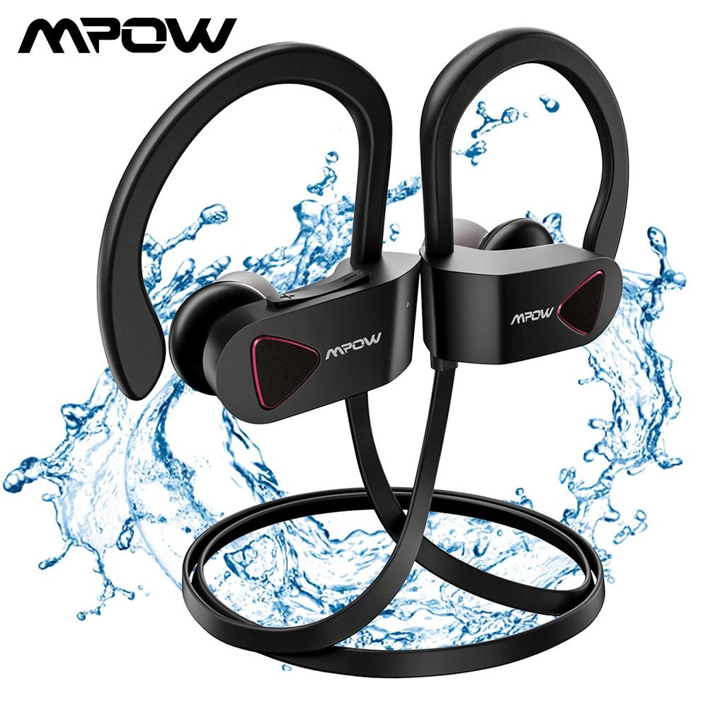 Mpow D8 Bluetooth 4.1 sans fil écouteur IPX7 structurel étanche Sport casque Sport écouteurs avec 9H de temps de jeu pour Gym