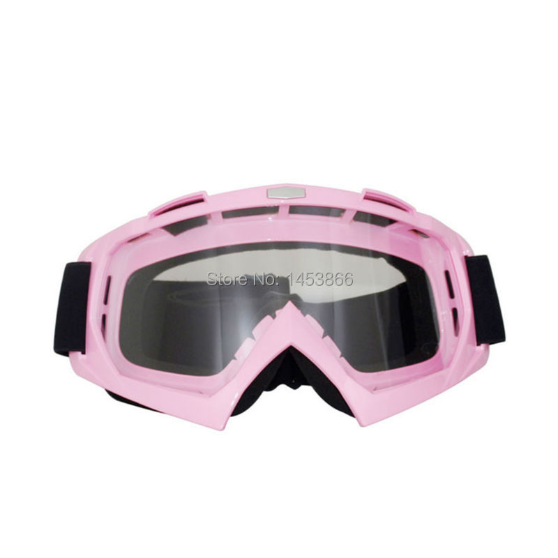 2016 Best Selling Ski Goggle Motocross Helmet Goggles Motorcycle Moto Goggles Pink image