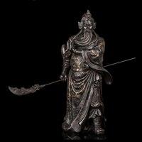 Atlie bronzes25 бронзы китайский воин Скульптура Мастер Йи девять драконов Guangong стоя Guanyu Бог Статуя большой статуя Будды