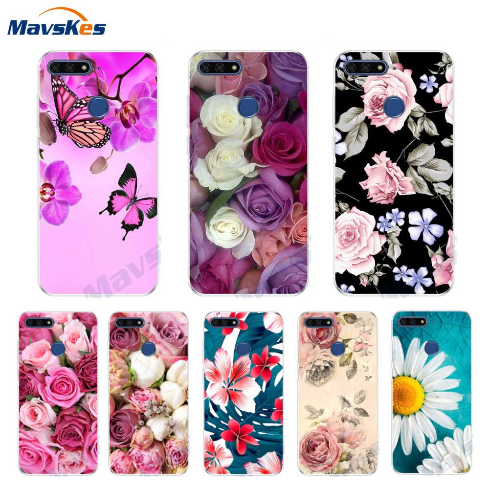 AUM-L41 Coque For Huawei Honor 7C 5.7 inch Case Flower Silicon Soft TPU Back Cover For Huawei Honor 7A Case Honor 7 A Honor7C C7