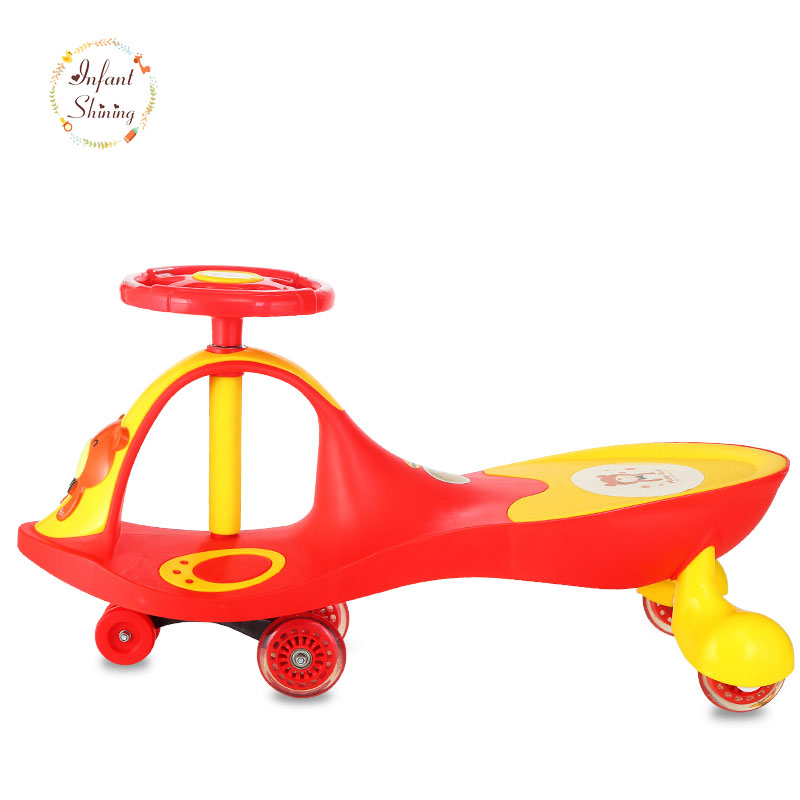 Infant Shining Swing Car Mute Flash Belting Leather Music Environmental Quality Children's Toy Car infant shining swing car mute flash belting leather music environmental quality children s toy car