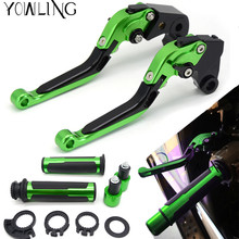 все цены на For kawasaki Z1000 Z 1000 2003 2004 2005 2006 Motorcycle Adjustable Folding Brake Clutch Levers Handlebar Hand Grips онлайн