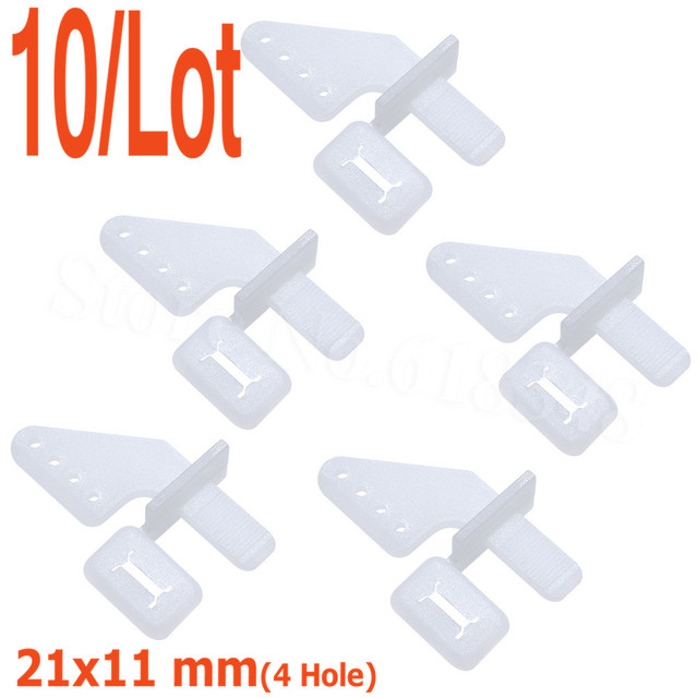 US $2 49 |10pcs Lock On Nylon Control Horns 21x11 mm (4 Hole) For RC Model  Airplane Parts Remote Control Foam Electric KT Kit-in Parts & Accessories