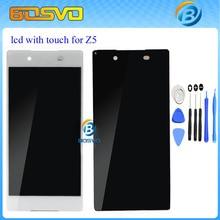 1 stück display mit touch digitizer für Sony Xperia für Z5 lcd-bildschirm E6603 E6633 E6653 E6683 schwarz weiß kostenloser versand + werkzeuge