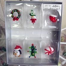 Manufacturers custom! Hand blown glass Munuola Christmas Snowman sculpture garden Home Furnishing decorative Pendant Gift Set