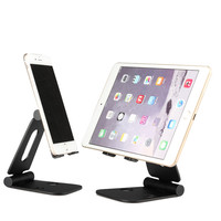 Moutik Aluminium Alloy Phone Holder Dual Hinges Adjustable Tablet Desk Stand Foldable Smart Phone Holder For