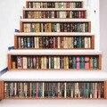 6 шт 3D лестницы книги наклейки на стену для дома сделай сам модные Лестницы украшения большие наклейки Escalier Tigger 3d Muursticker тигр