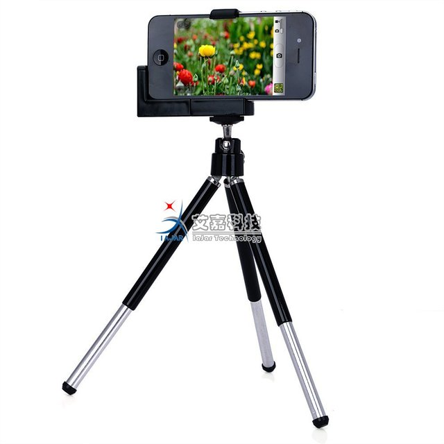 Free Shipping  Mini Adjustable Tripod+camera Holder for Iphone and Other Cellphone