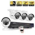SANNCE 720 P 8-КАНАЛЬНЫЙ ВИДЕОНАБЛЮДЕНИЯ Системы Безопасности HDMI 1080 P NVR 4 шт. 720 P дома Камеры Видеонаблюдения с белым цветом P2P ИК открытый