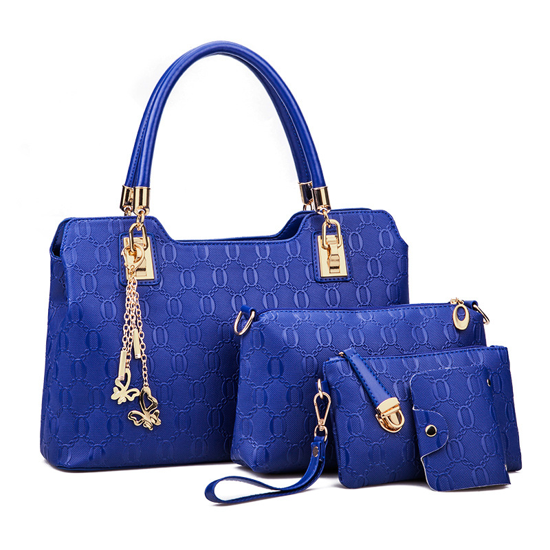 a95e60a15648 Роскошные сумки женские сумки конструктор 4 шт/набор женщина сумка Марка  сумки для женщин 2018