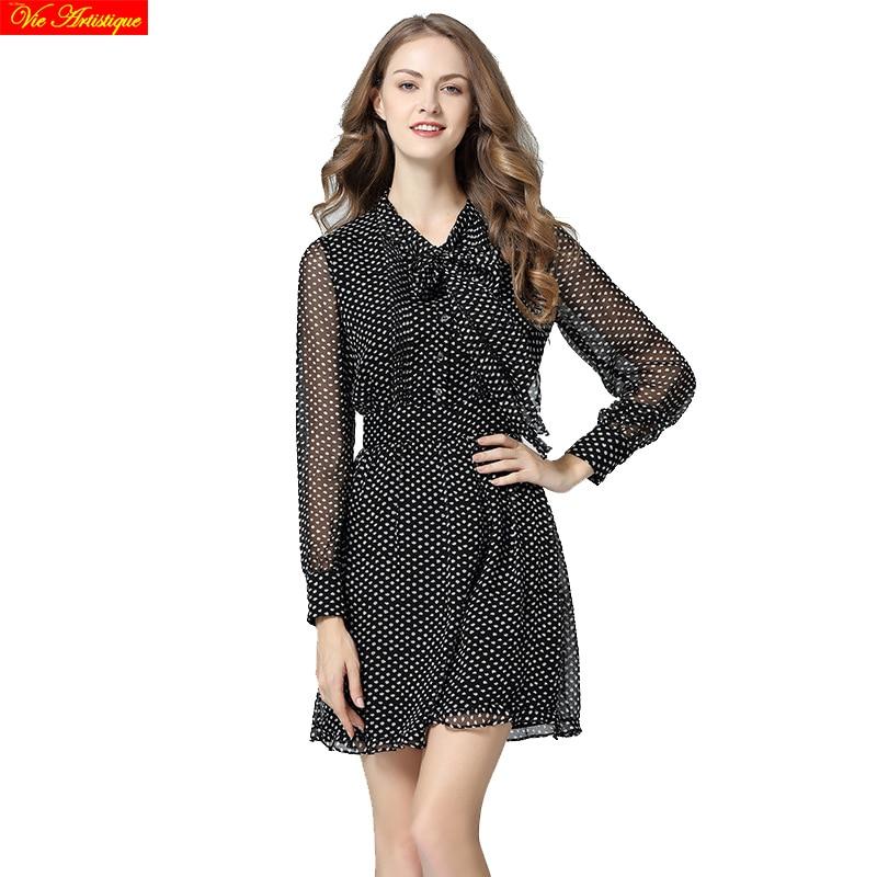Здесь продается  Christmas dress women polka dot silk dresses women