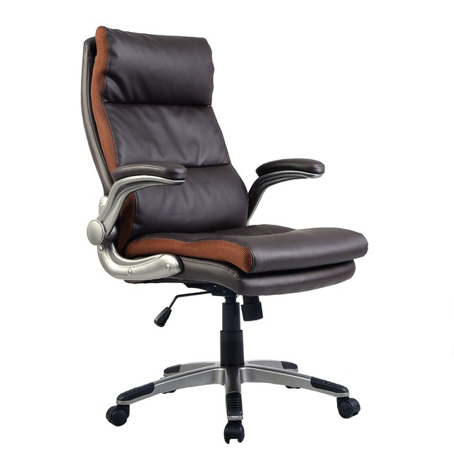 PU Leather Big&Tall Double Padded Executive Office Chair Adjustable Armrest  HW51442