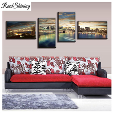 Diamond Painting 5pcs Panorama Of Brooklyn Bridge Sunset 5D Diy Embroidery Needlework Full Square Round Drill FS4506