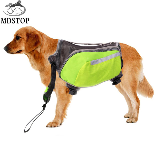 Mdstop 2017 New Green Oxford Dog Saddle Bag Medium Large Dogs Backpack For Outdoor Hiking