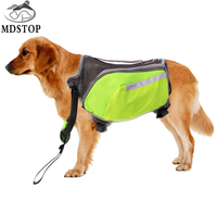 MY DAYS Fast Shipping Green Oxford Dog Saddle Bag Medium Large Big Dogs Backpack For Outdoor