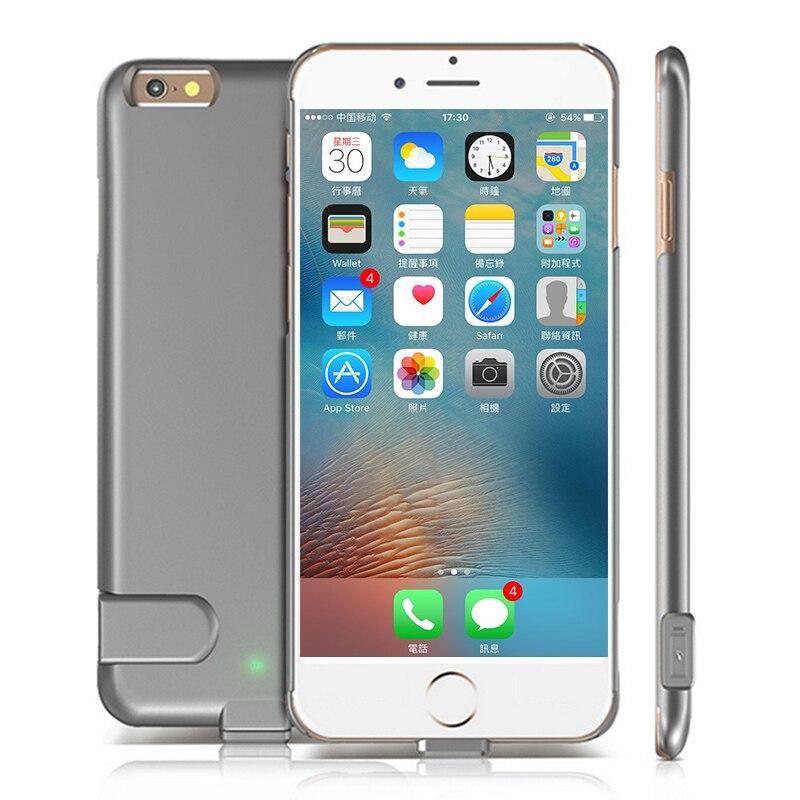 imágenes para Ultra Delgada Batería Externa para 6 6 s Más La Batería caso para iphone 7 7 plus contraportada caso de carga 1500 mah 2000 mAh