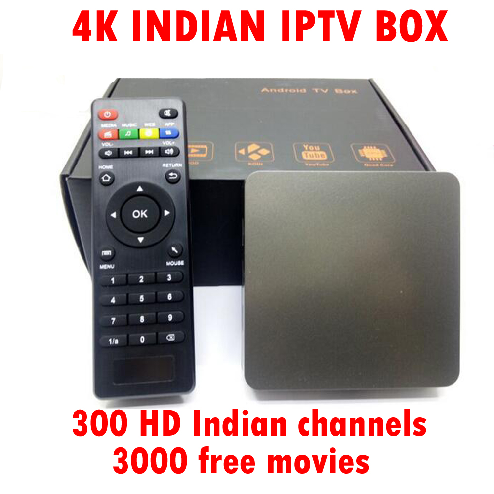 Indian IPTV Box with 300 Popular India live TV Channels No Mothly Fee Quad Core Android