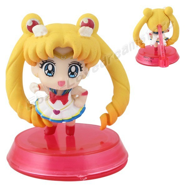 бесплатная доставка анимировать мультфильм ЛД! 6х Sailor Moon рядом с нами плутон бежал Saturn 4.5 см пвх рисунок с базовой свободно