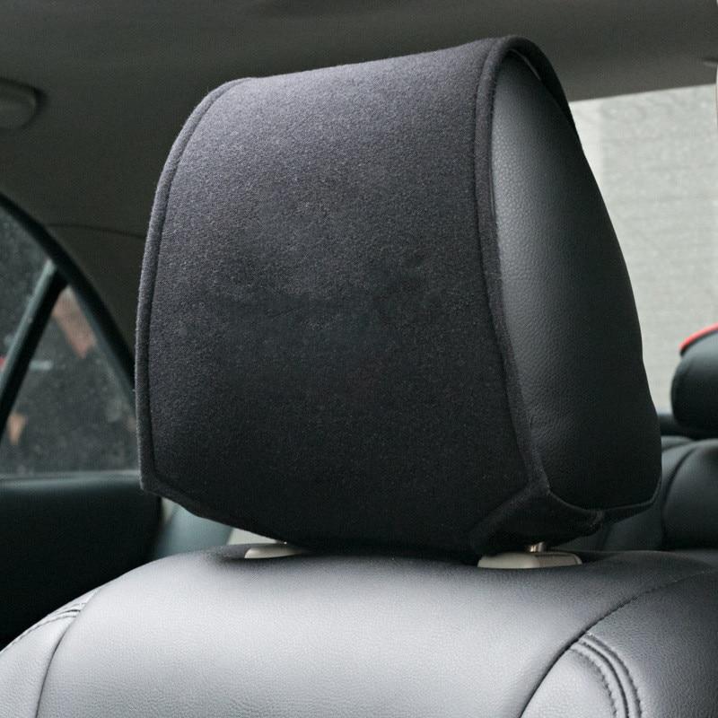 1PCS Hot Car Headrest Cover Fit For Honda Mazda Mitsubishi Hyundai Peugeot Nissan Volkswagen Skoda Car Styling