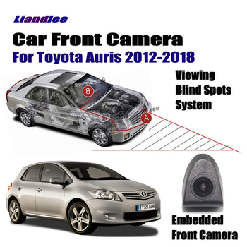 Car Front View Camera For Toyota Auris 2012-2018 2013 2014 2015 Not Rear View Backup Parking Camera HD CCD Night Vision crazy sale mini ccd coms hd night vision 360 degree car rear view camera front camera front view side reversing backup camera