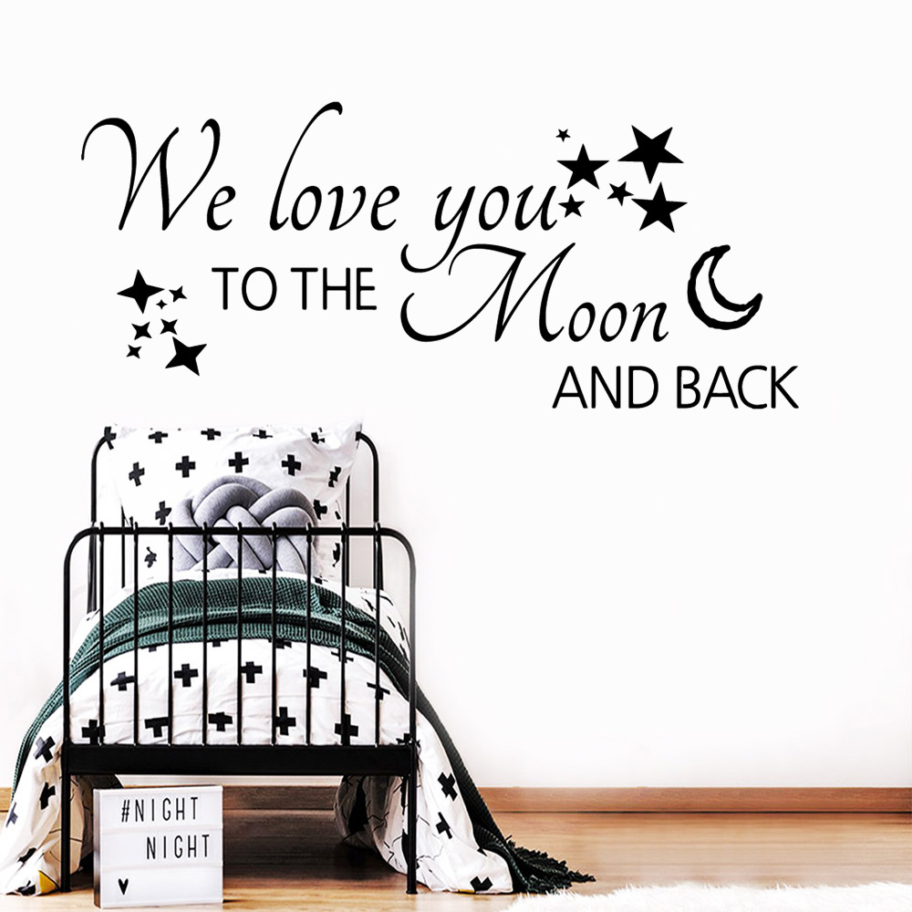 Classic English Quotes Wall Art Decal Decoration Fashion Sticker Nursery Kids Room Decor Background