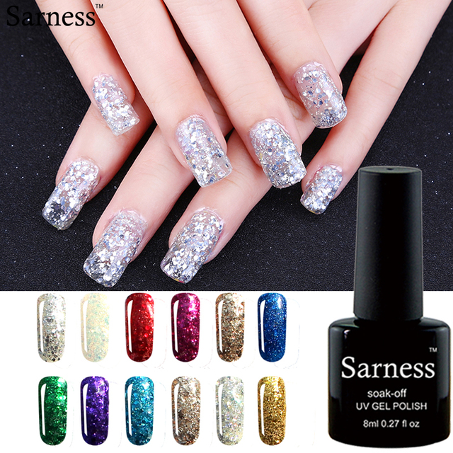 Sarness UV Gel Nail Polish Nail Art Professional UV Gel Polish Lukcy ...