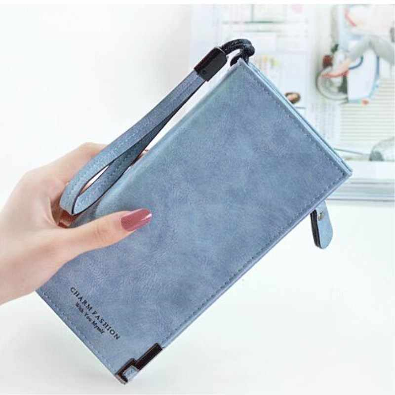 fc528774ee0c8 ... 2019 Wallet Women Purses Pu Leather Brand Designer Luxury Long Wallet  Clutch Wallets Female Bag Ladies ...