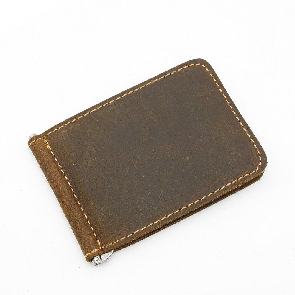 YISHEN Vintage 100% Real Ehtne nahk Meeste raha klambrid Slim Meeste rahakoti rahakott Dollar hoidja Meeste raha klipid MJJ017