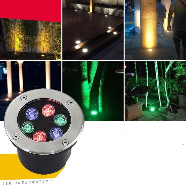 Fanlive 7W/9W/12W/15W/18W/24W/36W Round LED Underground Lamp Inground Light Outdoor Garden Path Buried Lamp 85-265v