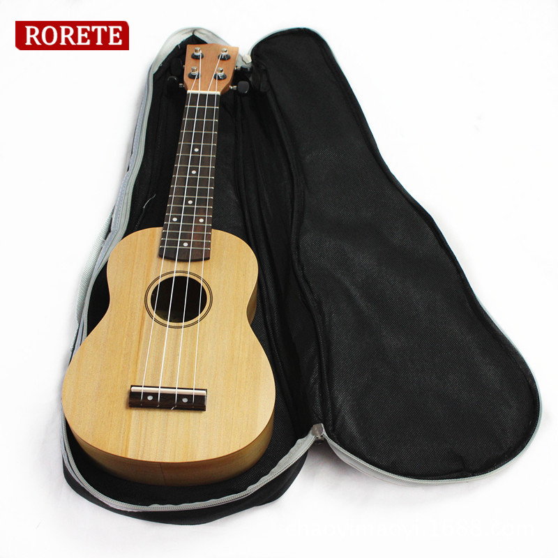 Professional 21 23 26 Inch Double Strap Hand Folk Canvas Ukulele Carry Bag Padded Case For Ukulele Guitar Parts & Accessories new style school bags for boys