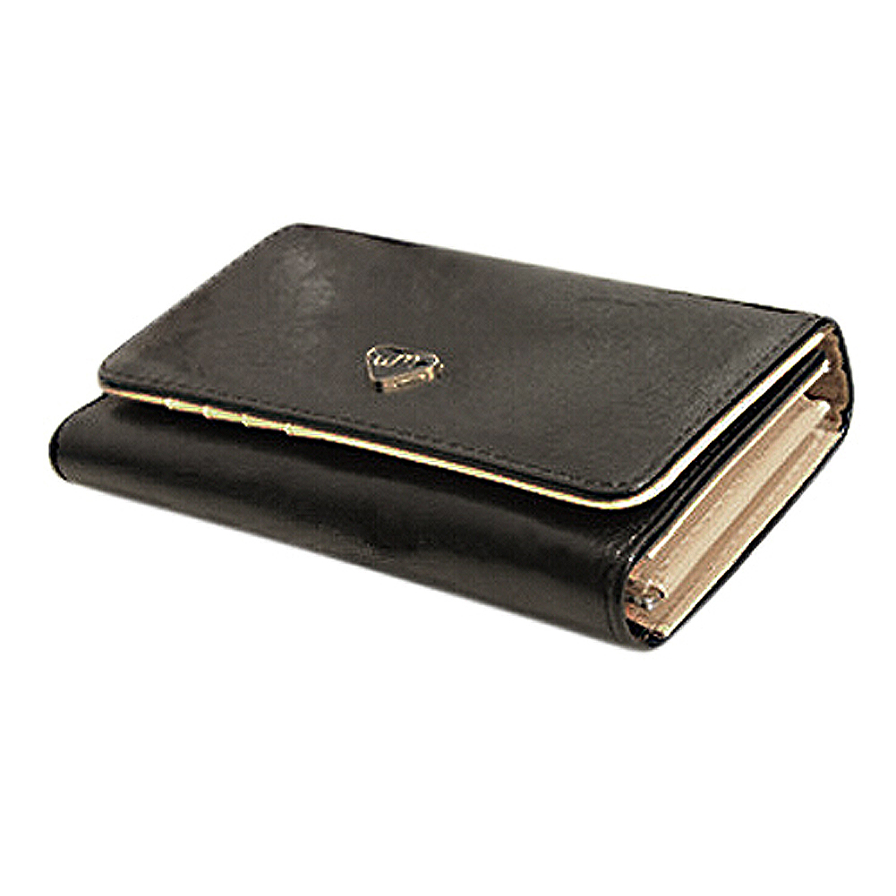 FGGS Leather Women Wallet Travel Credit Card Package ID  Bag-black metal credit card wallet women men bank card bag black card case bus id holders identity badge with badge reel py062