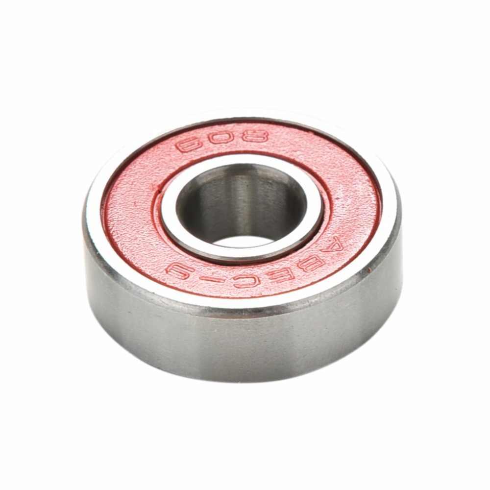 Merah ABEC 9 Bantalan Stainless Steel Kinerja Tinggi Roller Skate Skateboard Skuter Bantalan Roda 10 Pcs