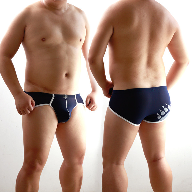 New 2015 Gay Bear Underwear Plus Size Men's Sexy Briefs Gay Proud Shorts Designed For Gay Bear 5 Colors Free Shipping M L XL XXL