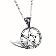 Fashion Hollow Pentagram Star Pendant Mens Necklace Personality Male Long Stainless Steel Chain Romantic Gift For Boyfriend