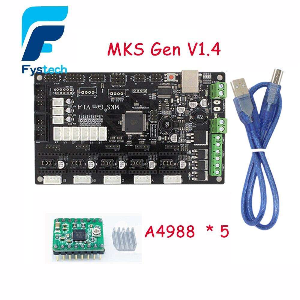 3d impresora greena4988 mks gen v1.4 mega 2560 r3 placa de control motherboard r