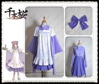Anime VOCALOID Megurine Luka Senbonzakura Uniform Cosplay Costumes Halloween Party Costume Dress