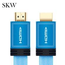 Cable HDMI SKW HDMI a HDMI 2,0 4 K @ 60 HZ 4:4:4 azul bebé con chapado en oro de 24 K 1,5 M 3,0 M para ordenador portátil Conexión a proyector TV