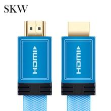 SKW สาย HDMI สาย HDMI to HDMI 2.0 4 K @ 60 HZ 4:4:4 เด็กสีฟ้า 24 K Gold Plated 1.5 M, 3.0 M สำหรับแล็ปท็อปเชื่อมต่อโปรเจคเตอร์ทีวี